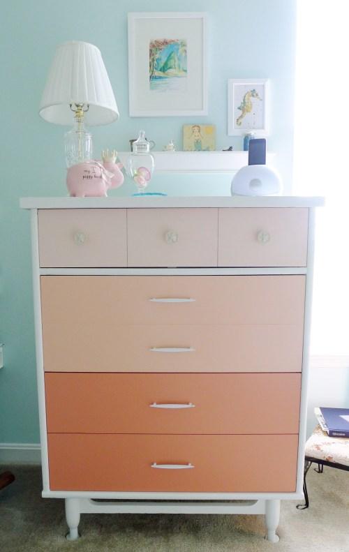 Finished Ombre Dresser
