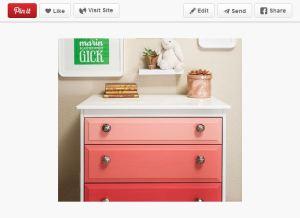 Pinterest Ombre Dresser