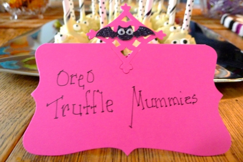 Oreo Truffle Mummy Sign
