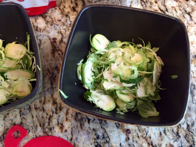 Shaved brussels sprouts