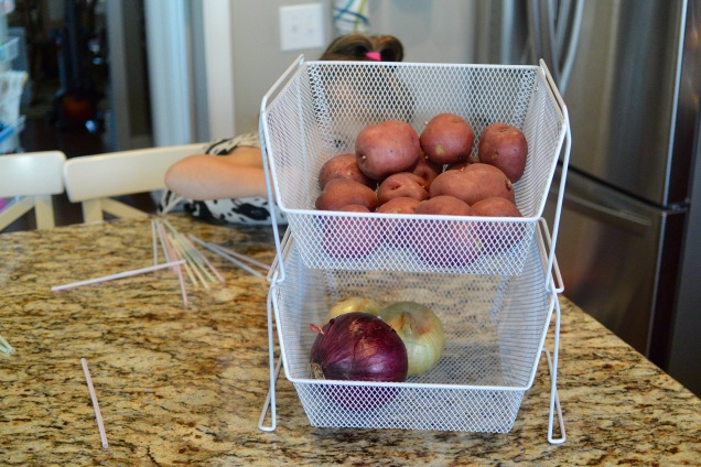 Potato and onion pantry basket