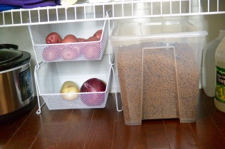 Potato and onion pantry basket